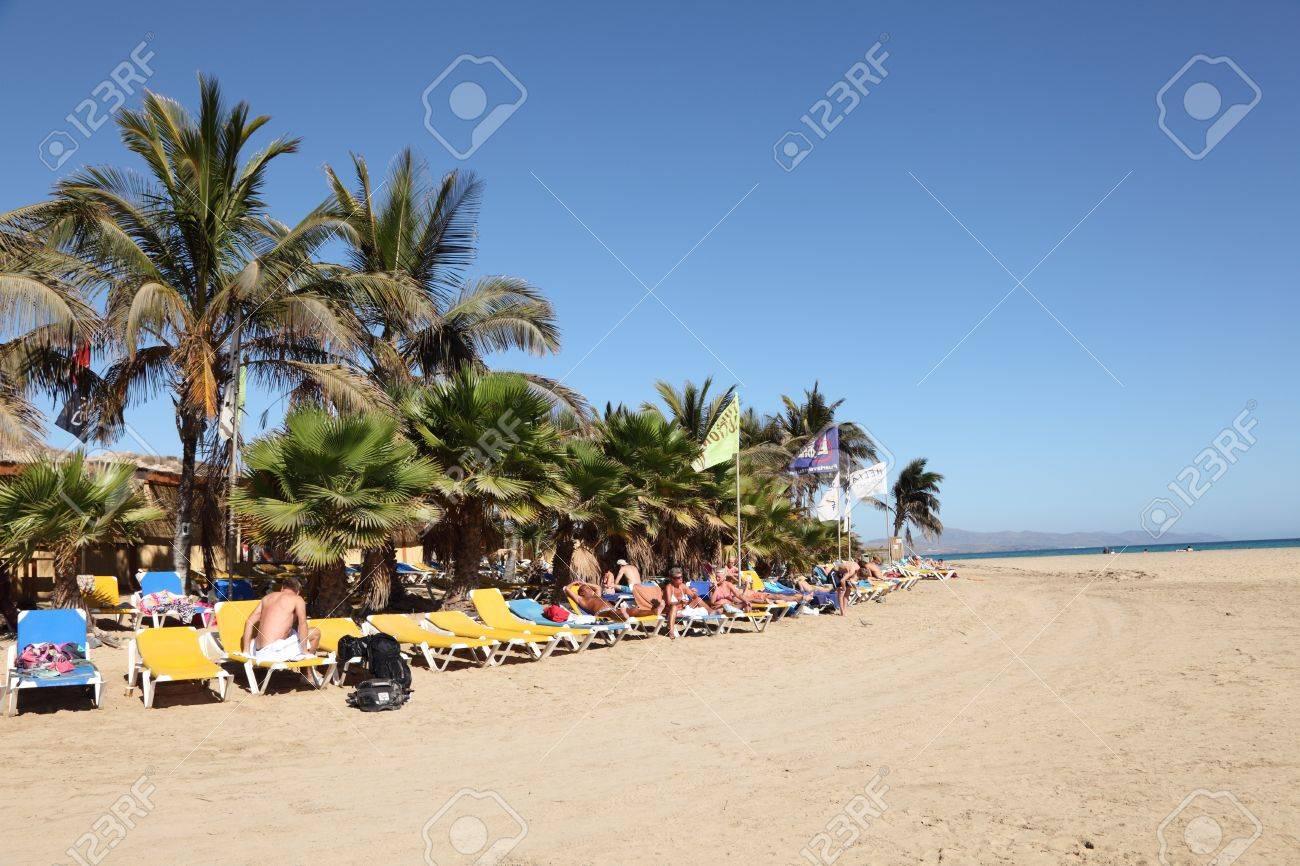 cbebdde2653 Beach at Rene Egli Surfing Center on Canary Island Fuerteventura, Spain.  Photo taken at