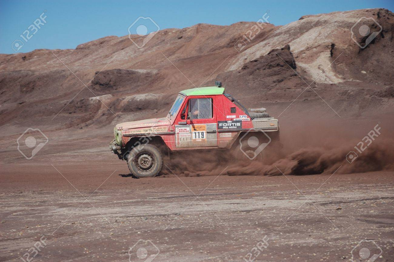 Mercedes Benz G Class At Offroad Rally Competition Stock Photo ...