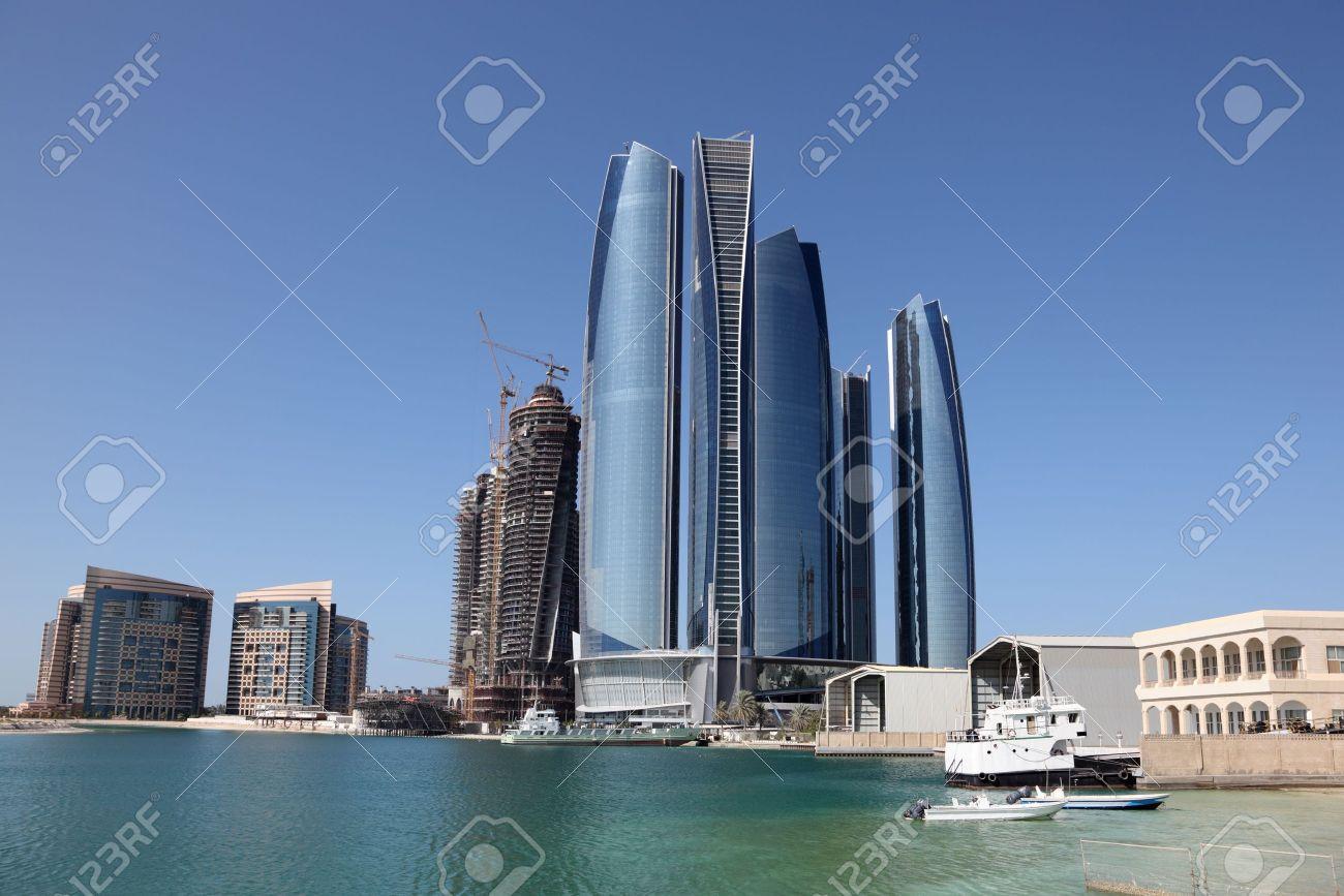 Skyscrapers in Abu Dhabi, United Arab Emirates Stock Photo - 15310502