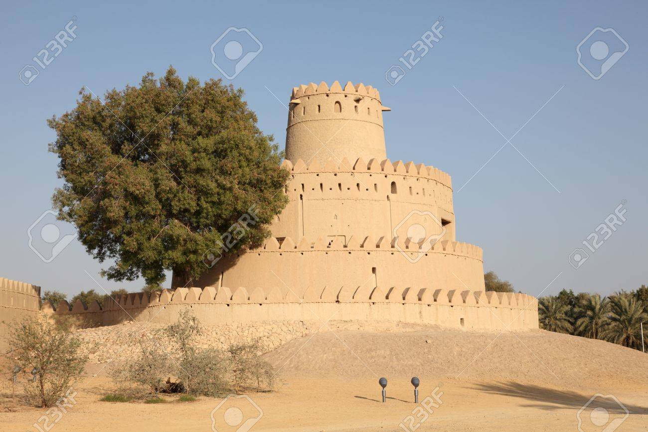 Al Jahili fort in Al Ain, Emirate of Abu Dhabi Stock Photo - 15750674
