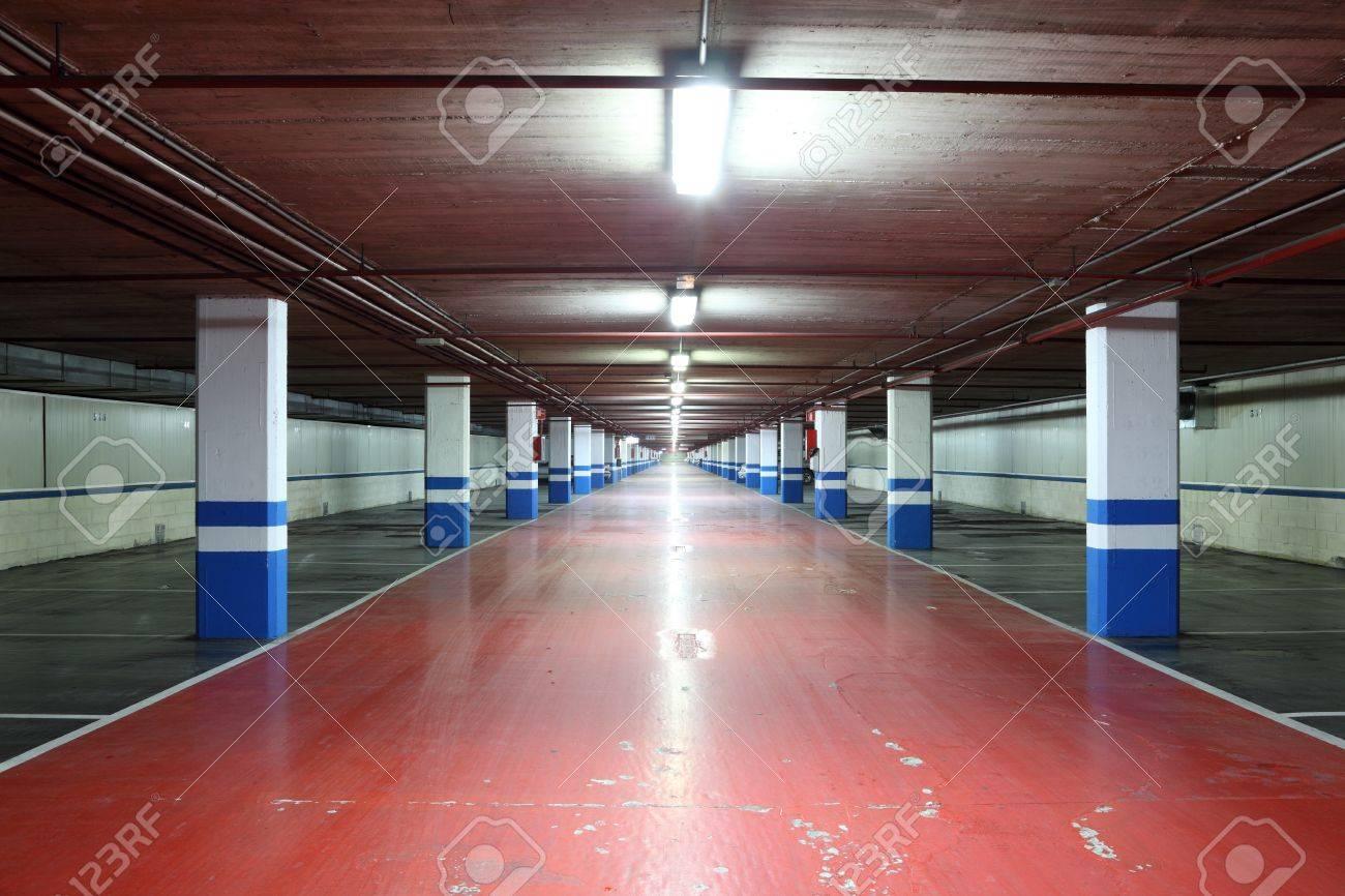 Lovely Underground Residential Garage #6: Empty Underground Garage In A Residential Building Stock Photo - 17032122
