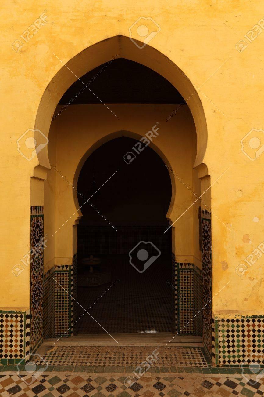 Oriental arch doors in the medina of Meknes Morocco Stock Photo - 21459950 & Oriental Arch Doors In The Medina Of Meknes Morocco Stock Photo ...