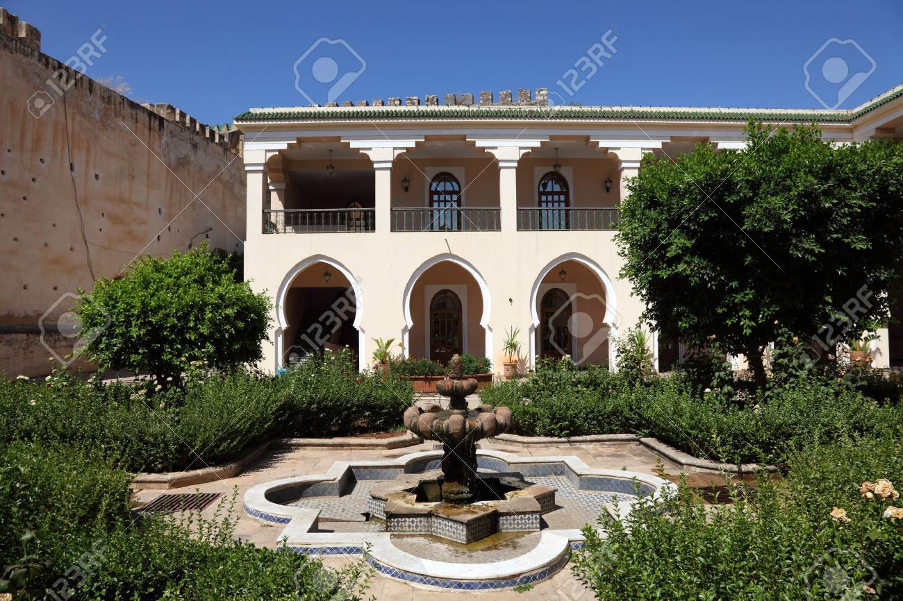 Inner courtyard (Riad) in Meknes, Morocco, North Africa Stock Photo - 21824607
