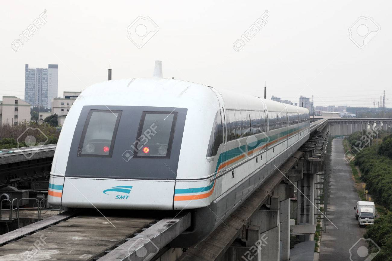 Maglev Train at the airport station in Shanghai, China Stock Photo - 22459749