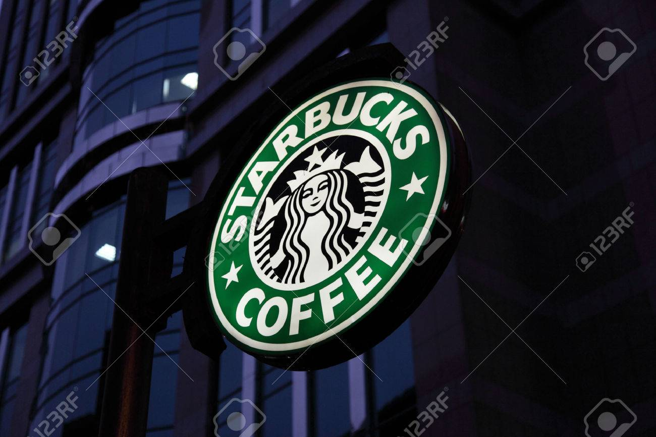 Starbucks Coffee downtown in the city Stock Photo - 22459756