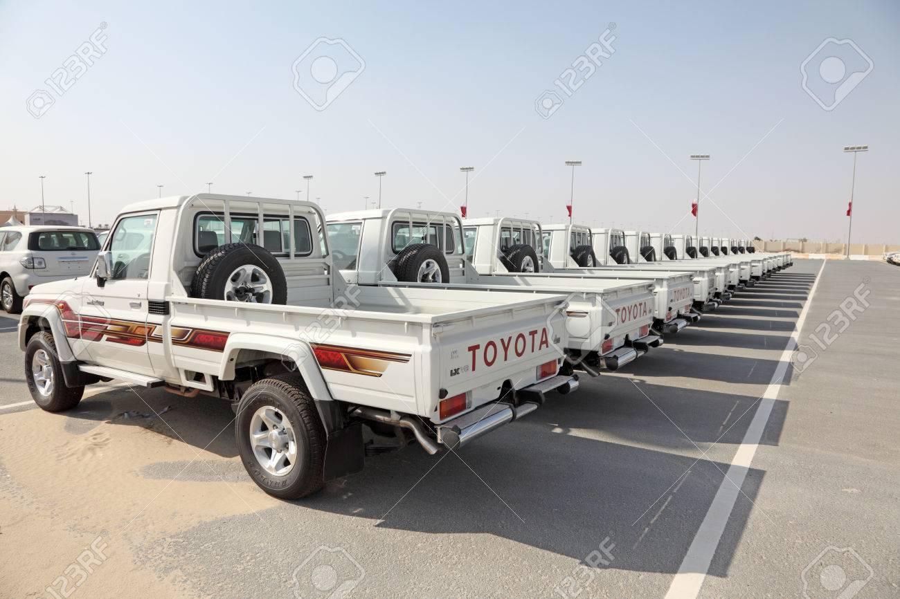 Brand New Toyota Land Cruiser Pickup Trucks As Award For Camel Race Winners N Doha
