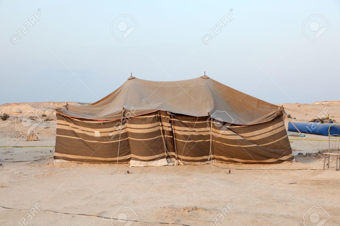 Bedouin tent in the desert of Qatar Middle East & Bedouin Tent Stock Photos. Royalty Free Business Images