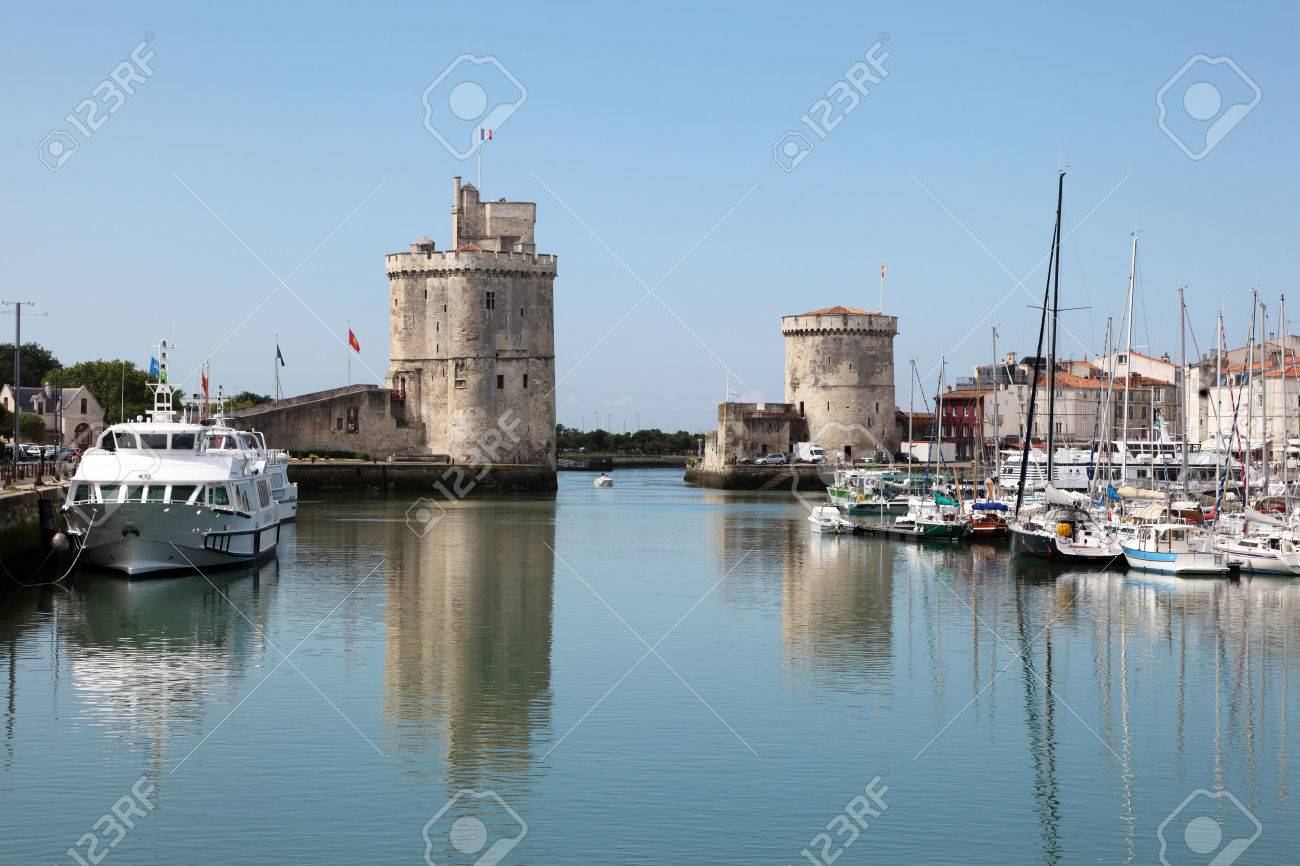 Entrance to the old port of La Rochelle, Charente Maritime, France Stock Photo - 30425792