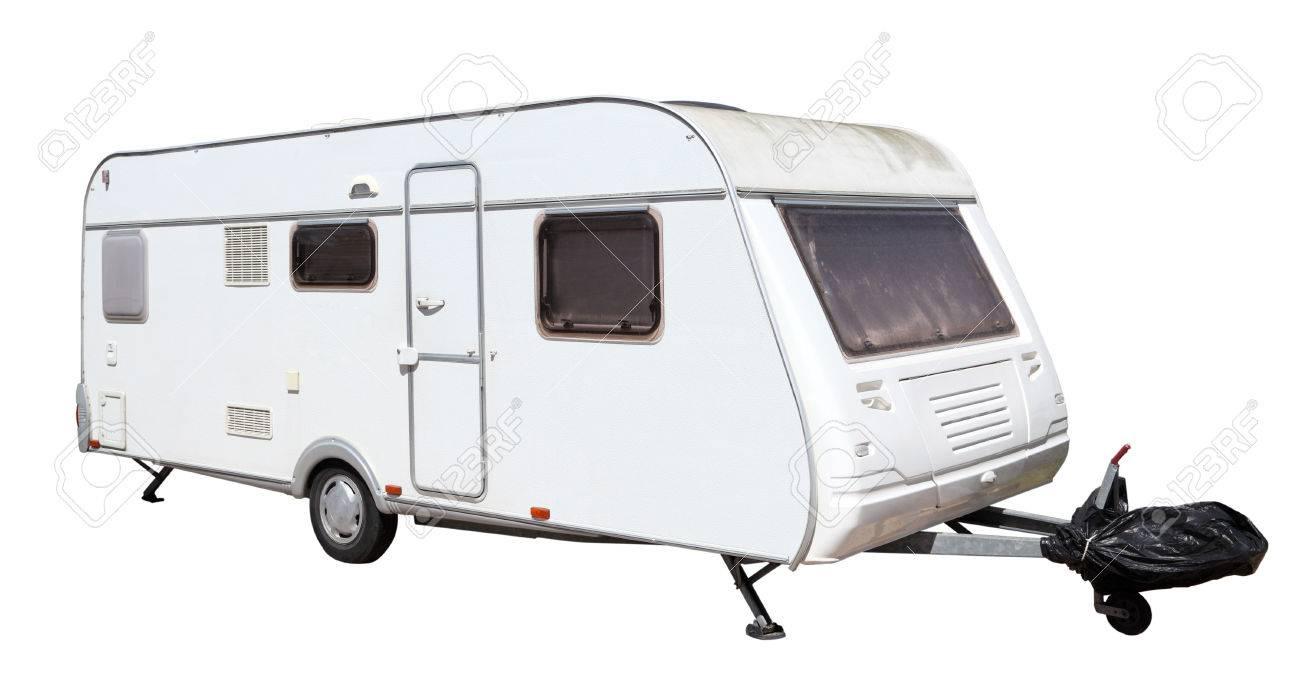 Caravan isolated over white background Stock Photo - 31961322