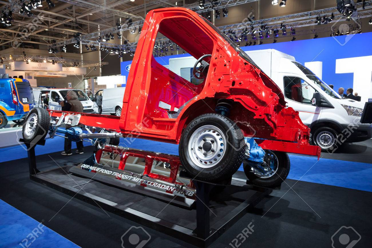 New ford transit 4x4 chassis at the 65th iaa commercial vehicles fair 2014 in hannover