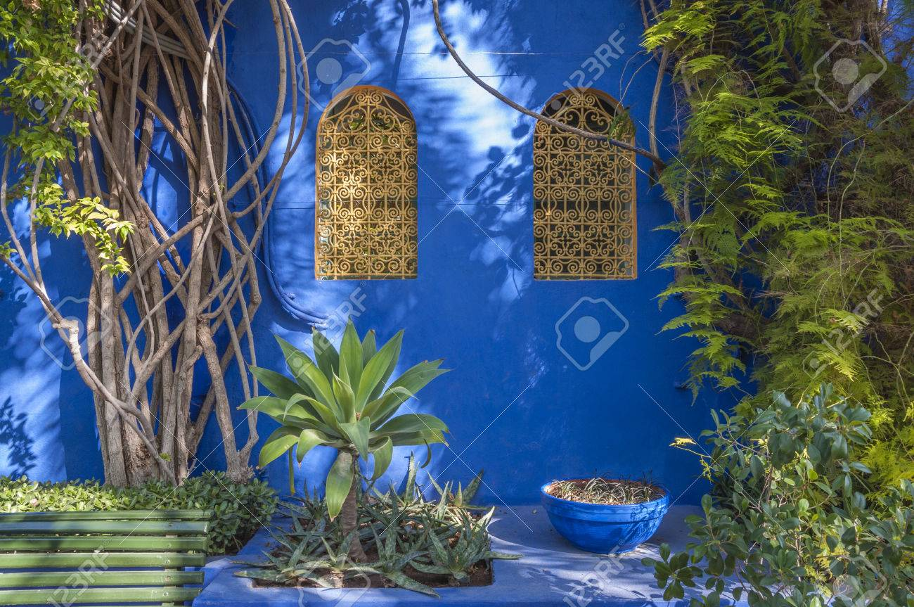 Majorelle Gardens in Marrakesh, Morocco Stock Photo - 33115033