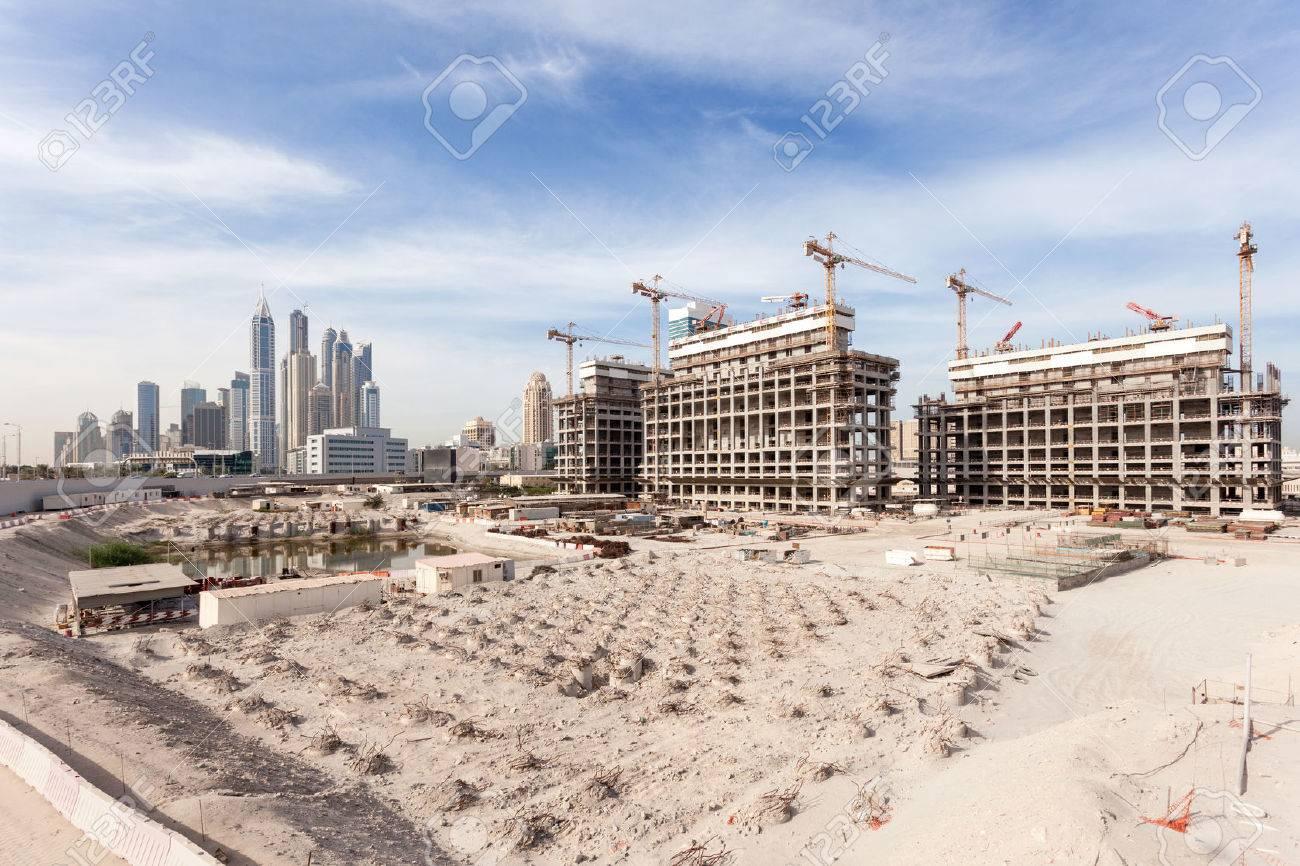 Construction site in the city of Dubai, United Arab Emirates Stock Photo - 36979690