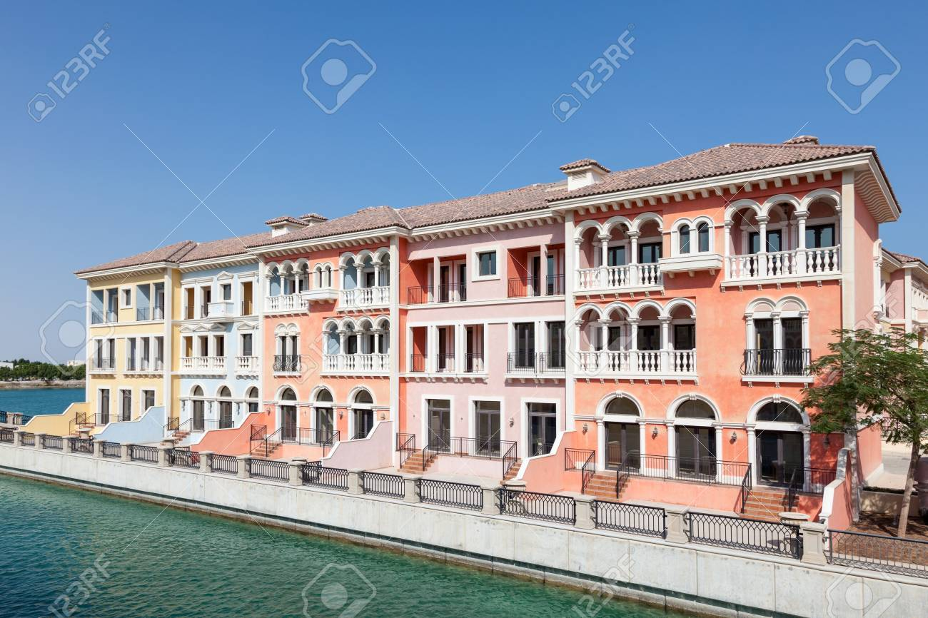 Qanat Quartier Urbanization With Italian Style Architecture At