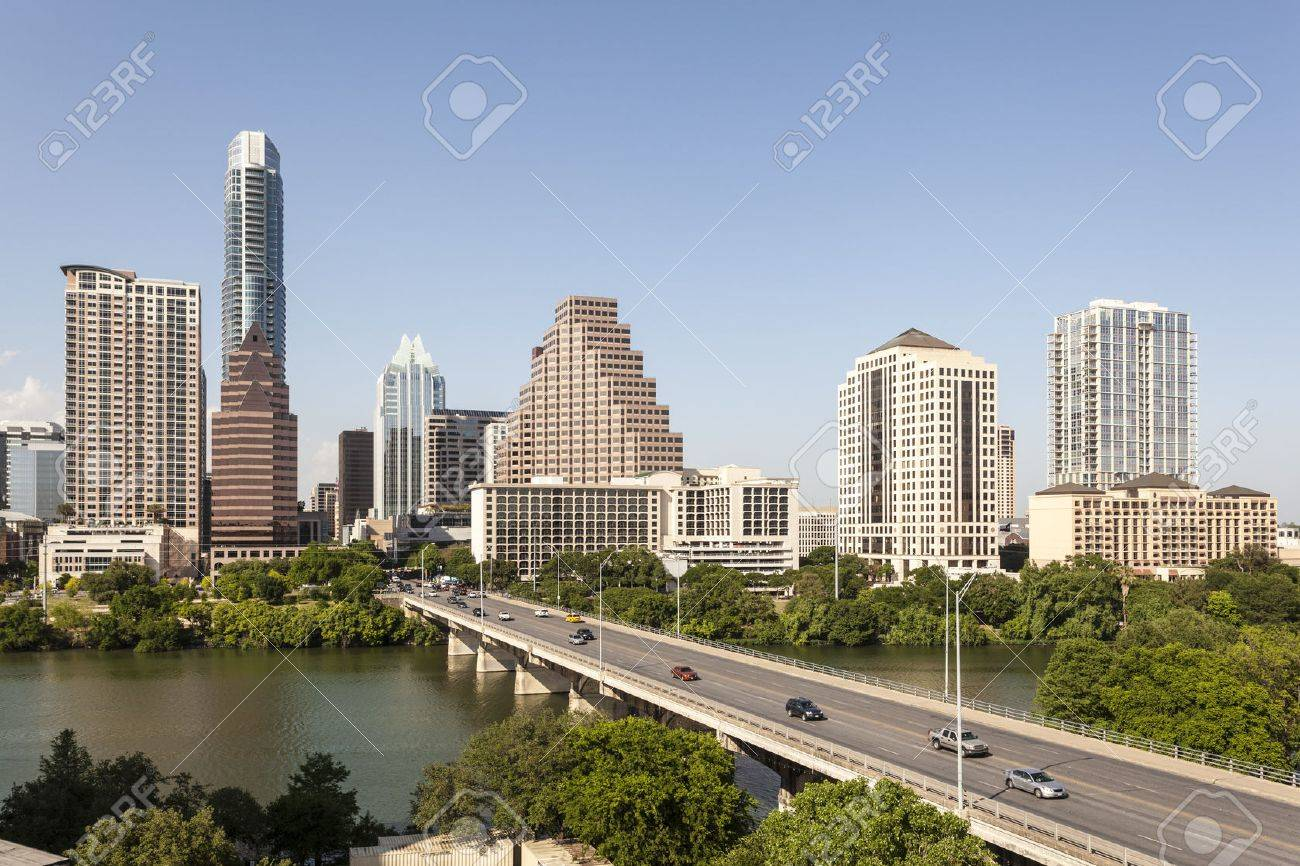 Austin city downtown skyline. Texas, United States Stock Photo - 60848462
