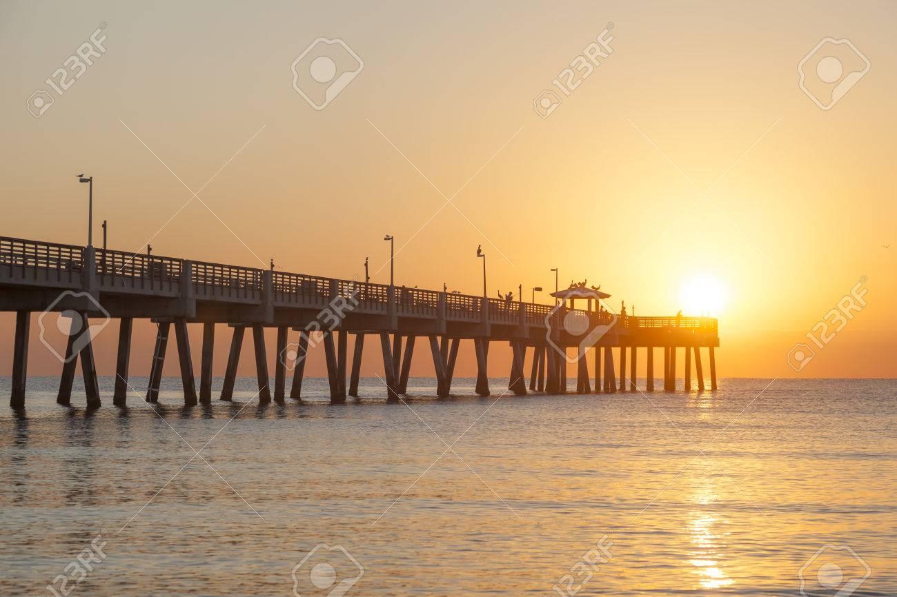 Dania Beach Fishing Pier At Sunrise Hollywood Beach Florida