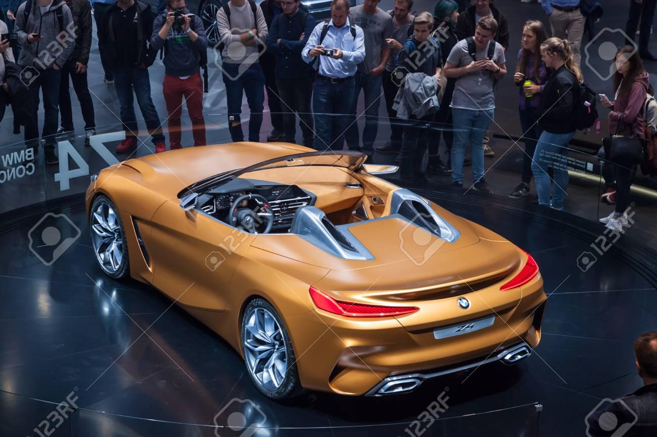 Bmw Z4 2017 >> Frankfurt Germany Sep 20 2017 New Bmw Z4 Roadster Concept