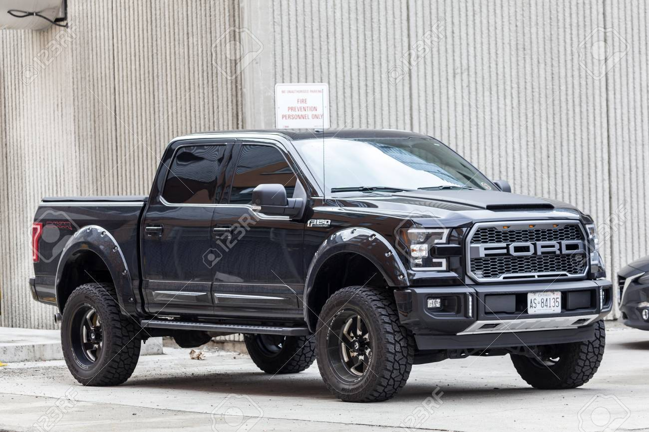 Toronto Canada Oct 14 2017 Black Ford F 150 Svt Raptor Dakar Stock Photo Picture And Royalty Free Image Image 90354122