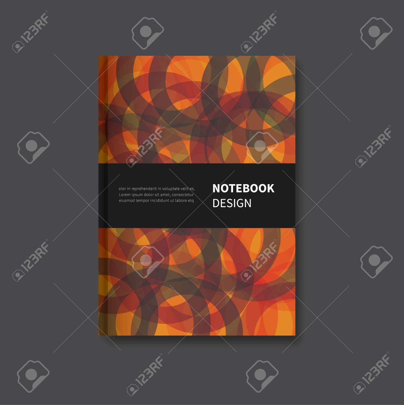 modern notepad or book cover layout background