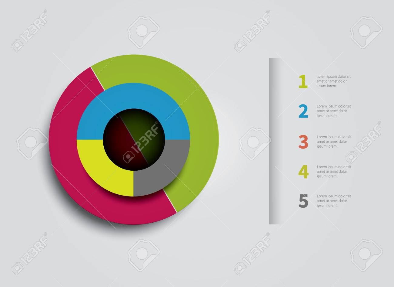 simple vector pie chart for infographic design royalty free cliparts