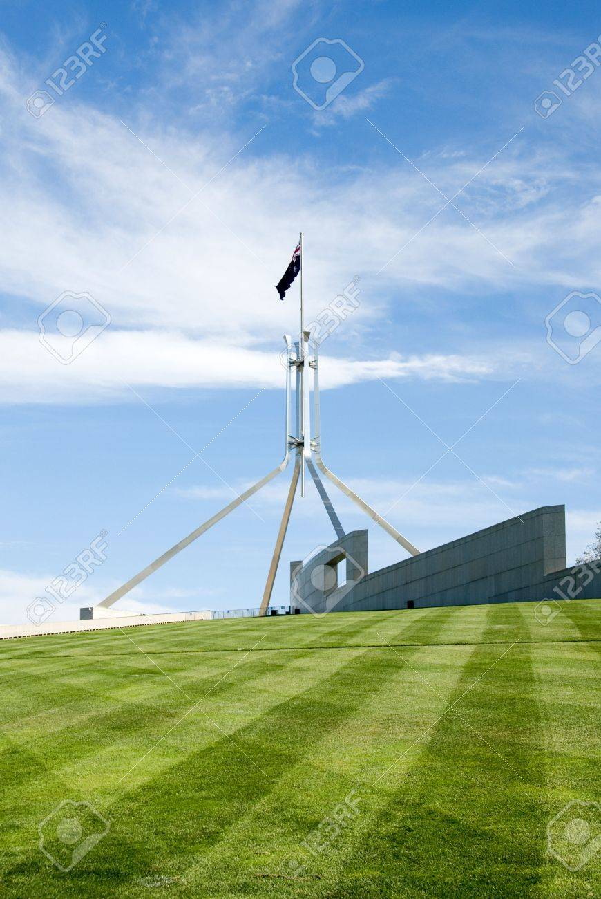 The flag pole above parliament house canberra australia stock the flag pole above parliament house canberra australia stock photo 3596314 sciox Image collections