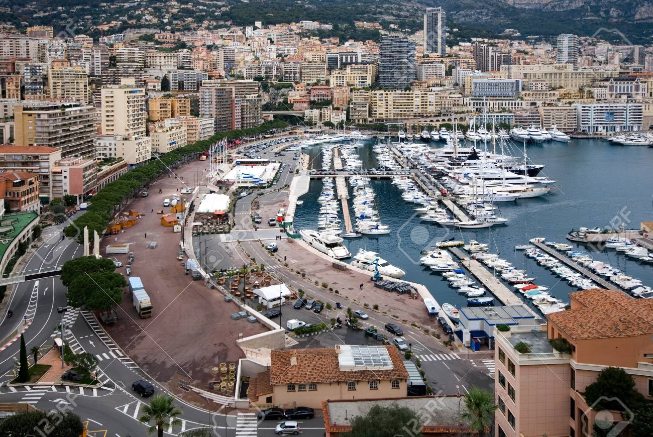 A view of Monte Carlo, Monaco, captured from a vantage point near the Prince Stock Photo - 14470515