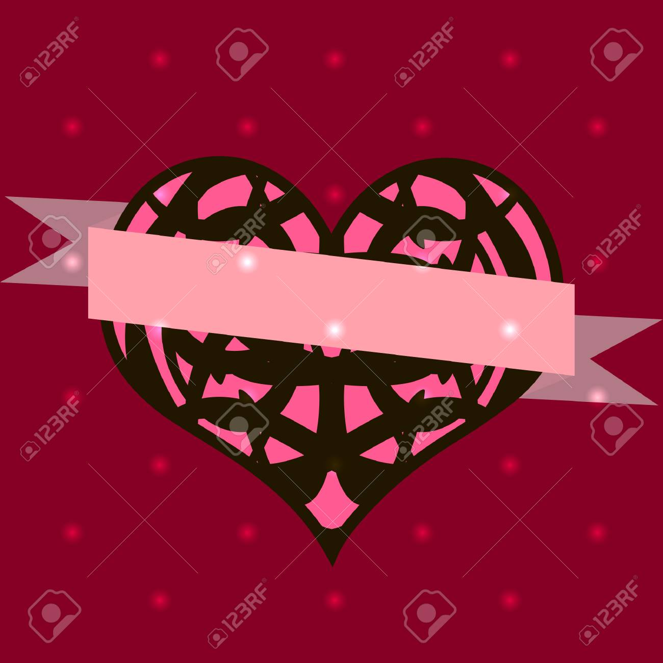 Set Of Templates For Wedding Invitations,valentines Day Cards ...