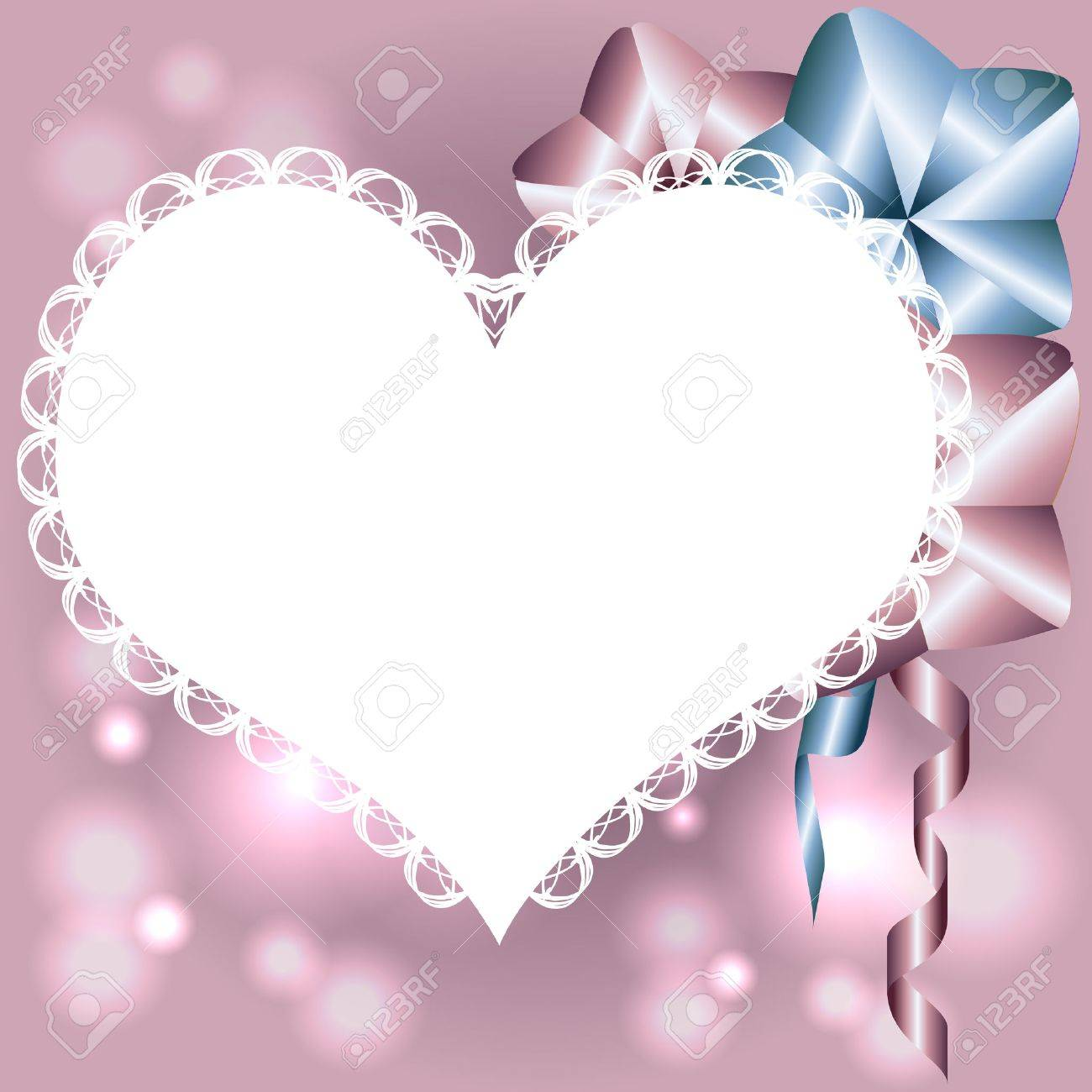 template for birthday card invitation valentine card with heart