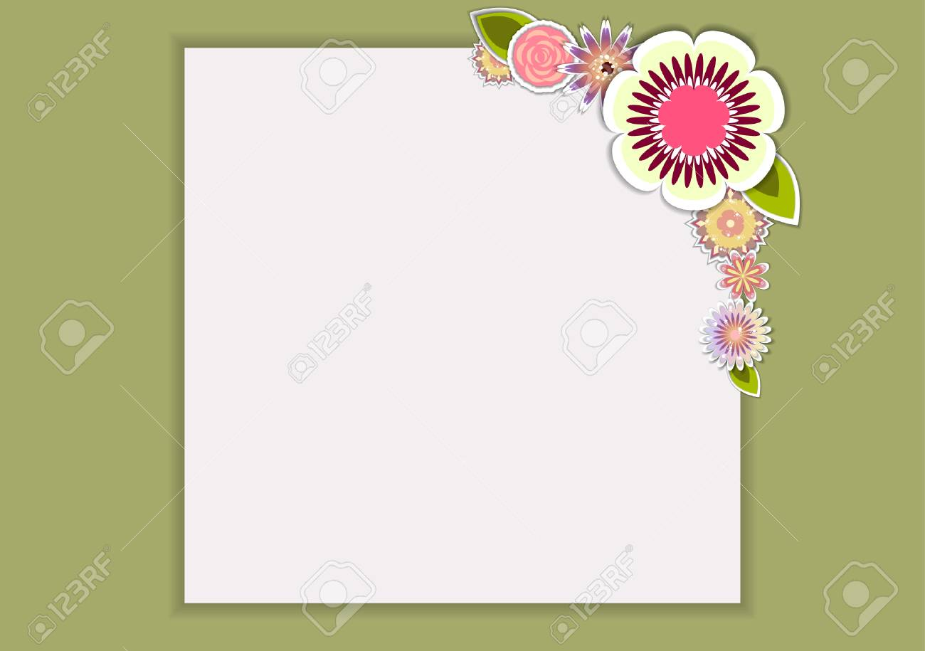 Template For Postcard, Invitation, Wedding, Party Card With White ...