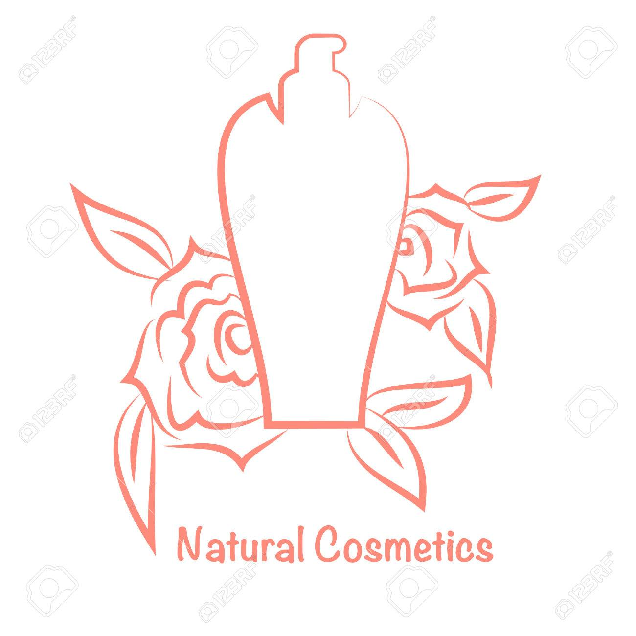 vector bottle for cosmetics perfume template for cosmetic brand