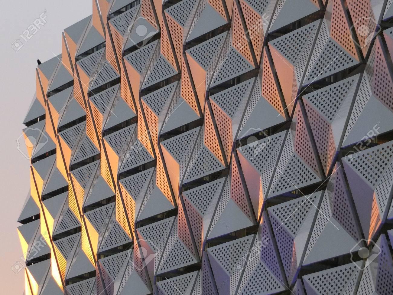 metal cladding on modern building