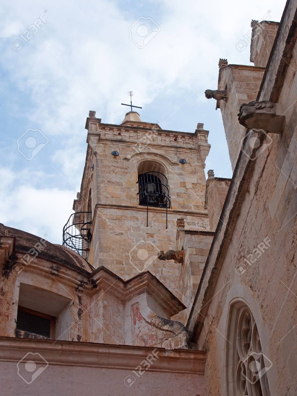 0f227f1af A close up view of the bell tower and gargoyles of the Santa Maria  Cathedral in