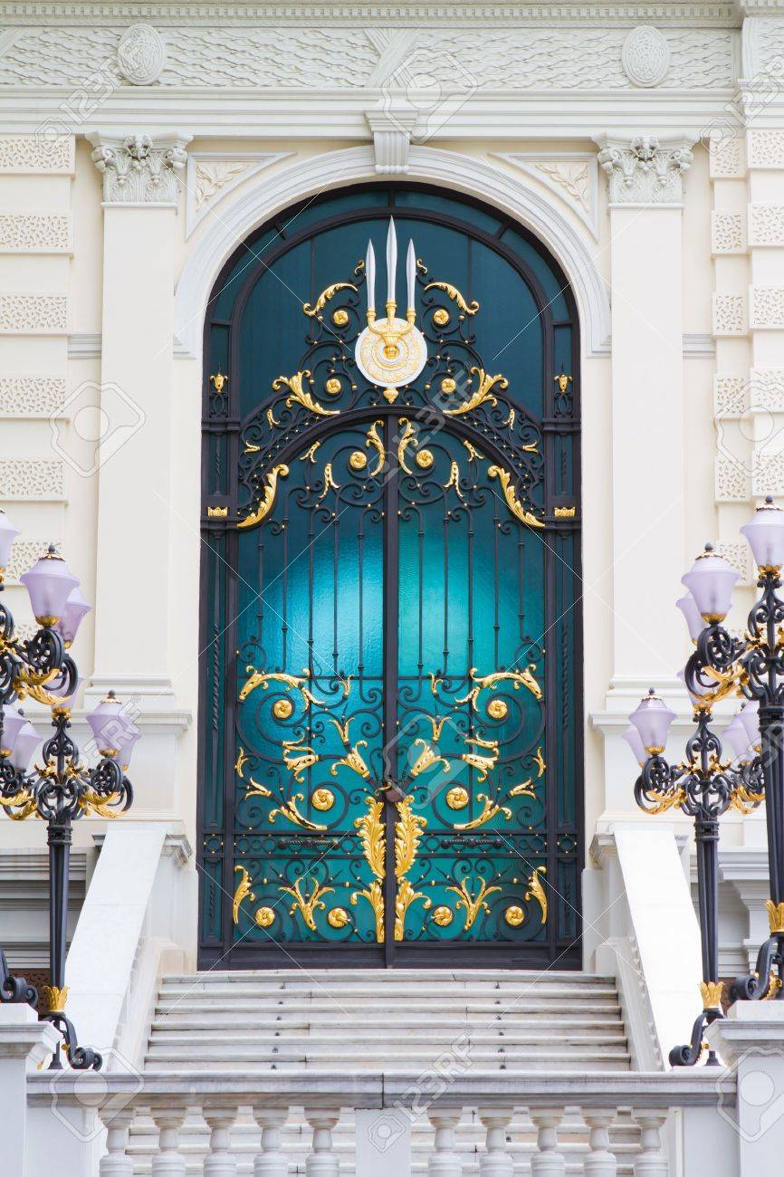 Stained glass doors stock photo picture and royalty free image stained glass doors stock photo 7935083 planetlyrics Image collections