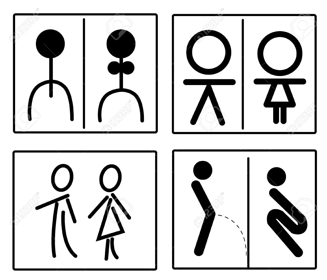 toilet sign set royalty free cliparts vectors and stock rh 123rf com restroom sign vector file restroom sign vector file