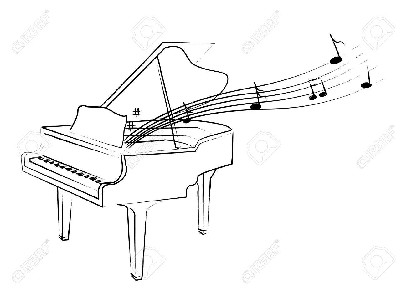 Рисунок как играть на фортепиано 3