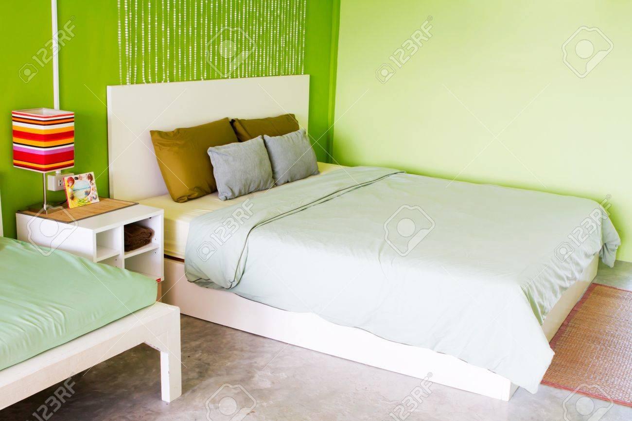 Vert de la chambre à coucher