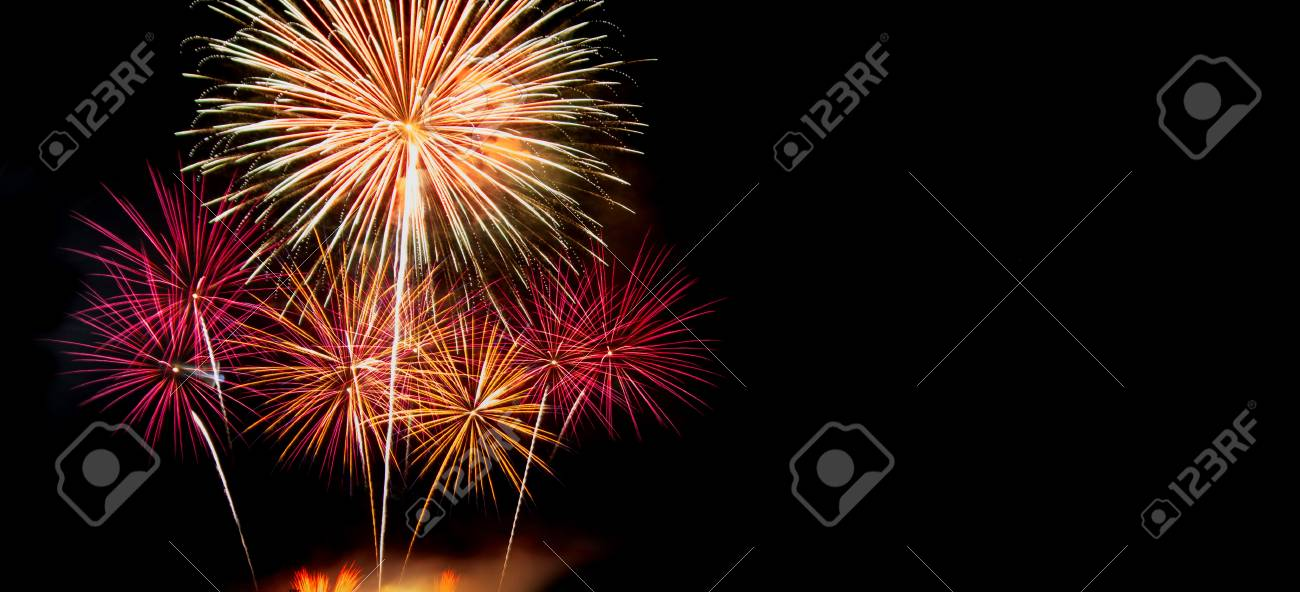 new year celebrate with fireworks lighting as background texture stock photo 49309272