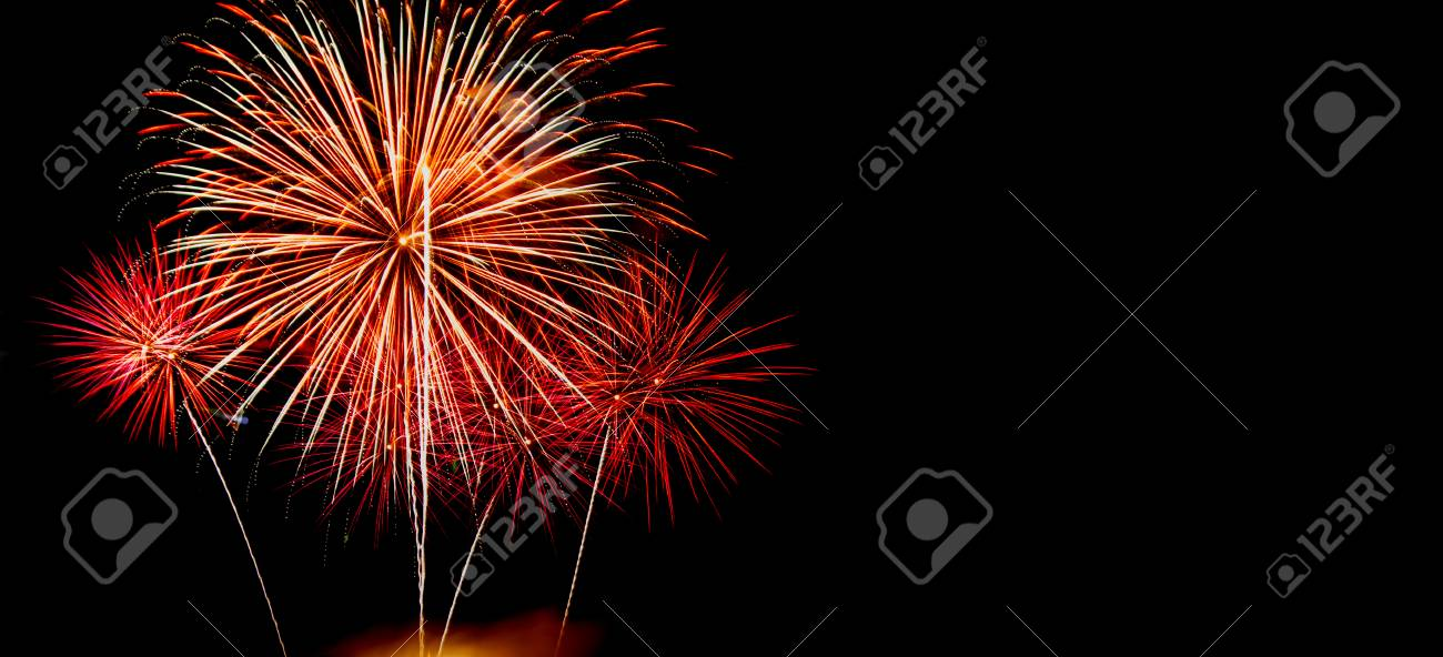 new year celebrate with fireworks lighting as background texture stock photo 49305107