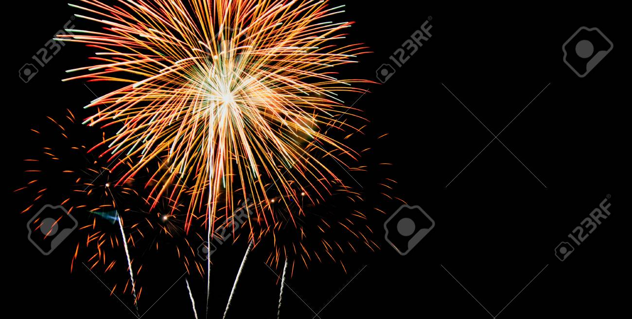 new year celebrate with fireworks lighting as background texture stock photo 49305109