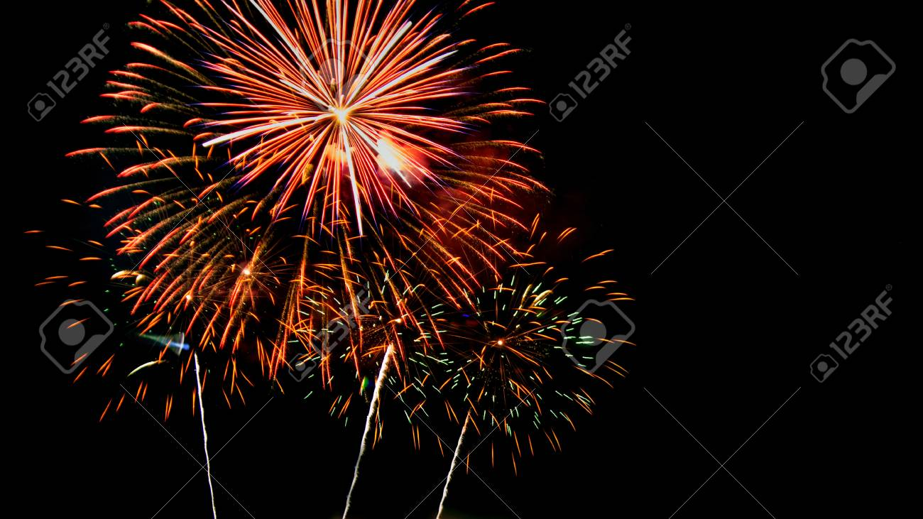 new year celebrate with fireworks lighting as background texture stock photo 49305110