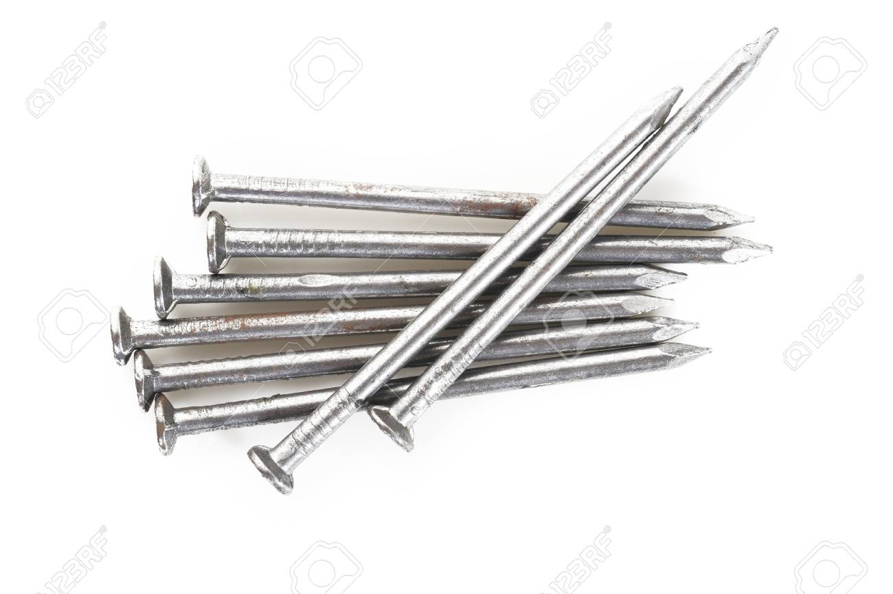 Old Iron Nails Head Stock Photo, Picture And Royalty Free Image ...