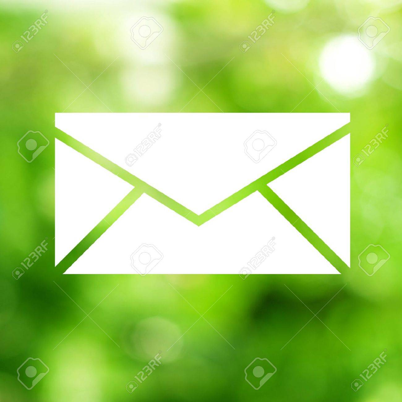 Email background image - Email Icon In Green Background Stock Photo 11368261