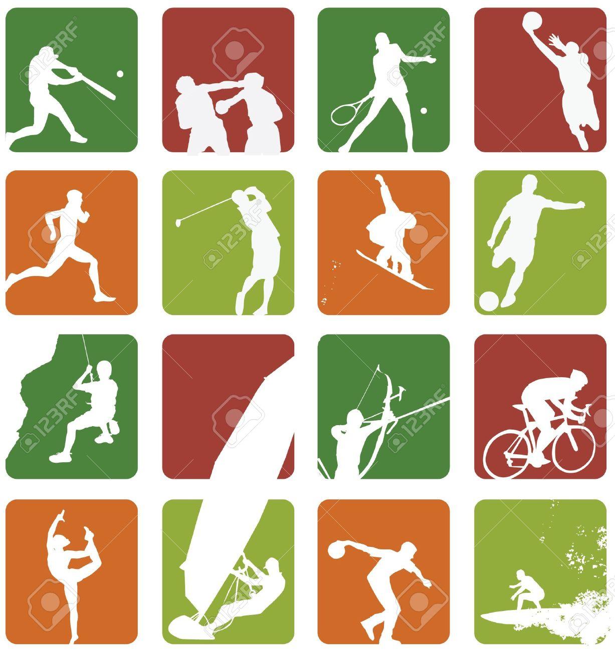 sport icon set Stock Photo - 11373095