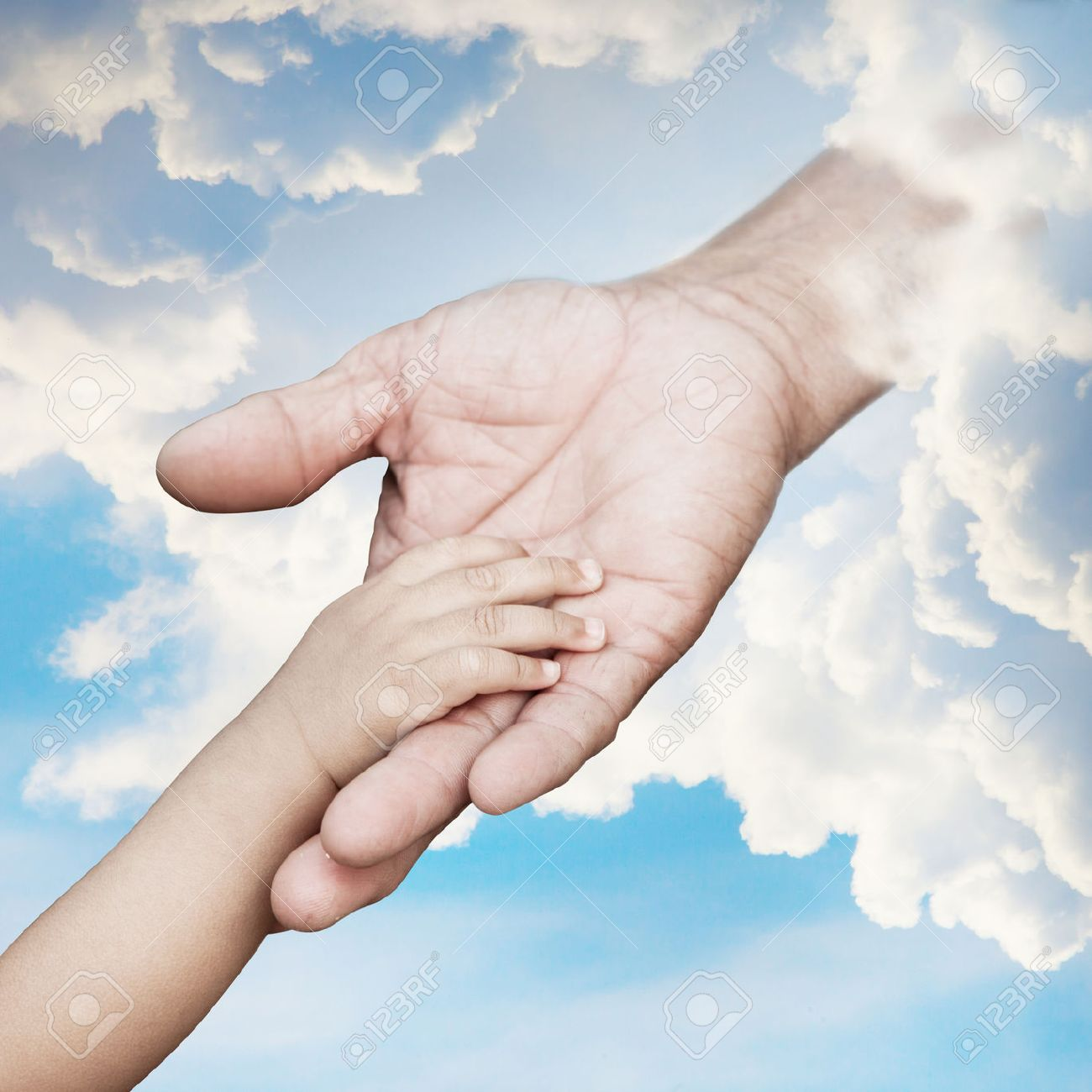 Baby Hand Reach Out To God Stock Photo, Picture And Royalty Free Image.  Image 23478378.