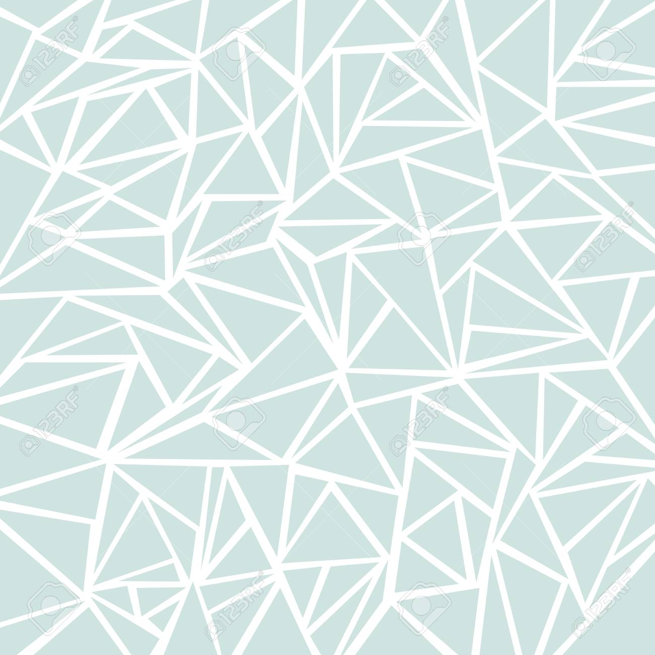 Abstract Light Blue Or Gray Geometric And Triangle Patterns For