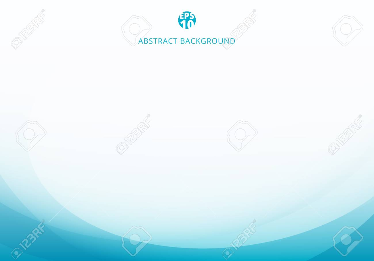 Abstract elegant blue light curve template on white background with copy space. Vector illustration - 126479815