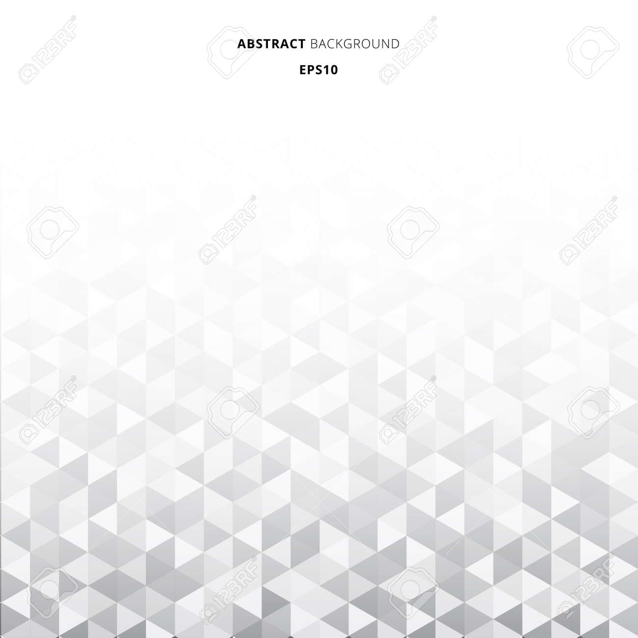 Abstract striped geometric triangles pattern gray color background and texture with copy space. Vector illustration - 120484377