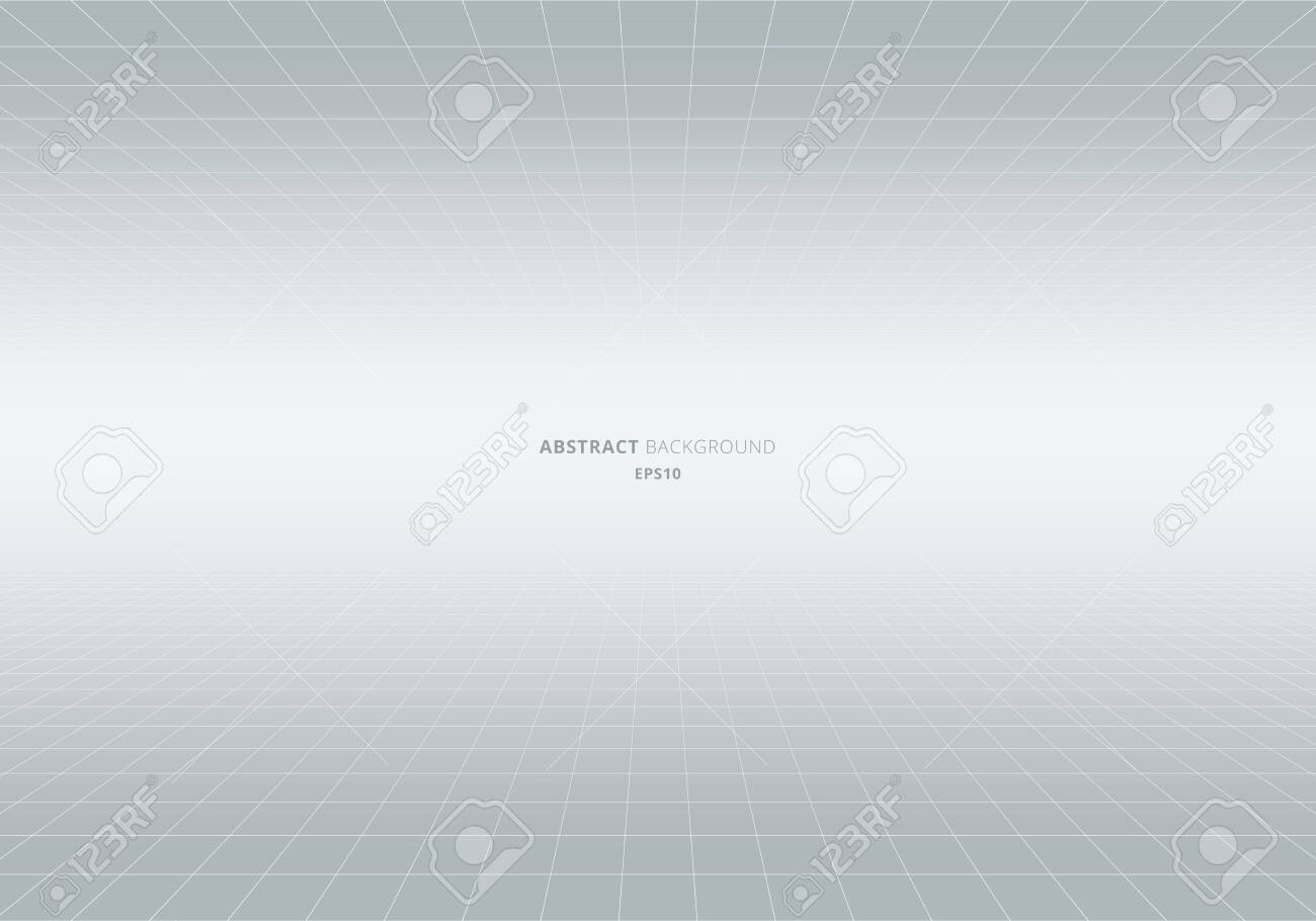 Abstract geometric squares pattern perspective white and gray background. Grid lines light backdrop. You can use for decorative banner web, cover brochure, poster, flyer, leaflet, etc. Vector illustration - 123826663