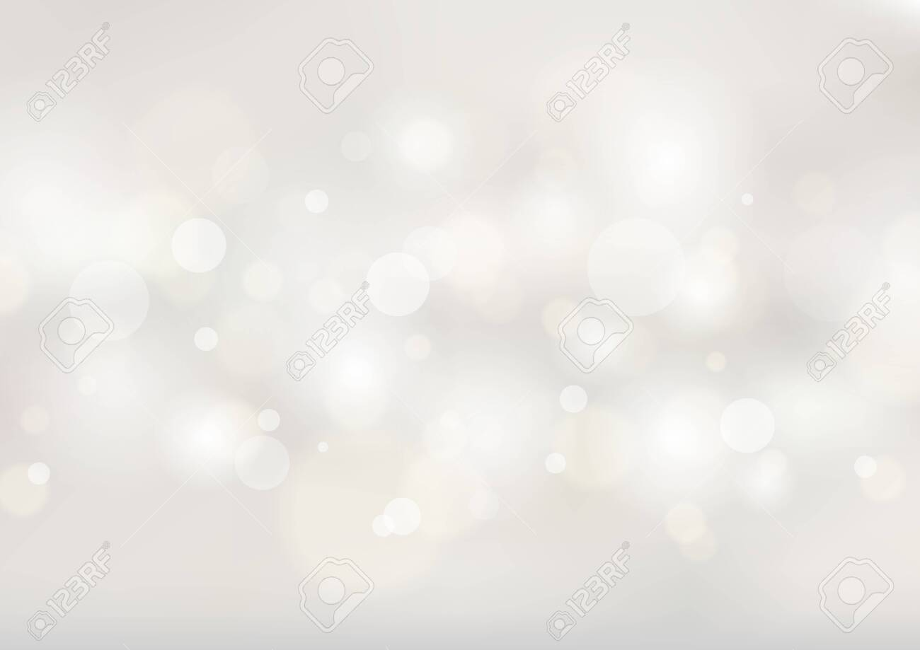 Abstract soft white blurred background with bokeh lights. Vector illustration - 135085552