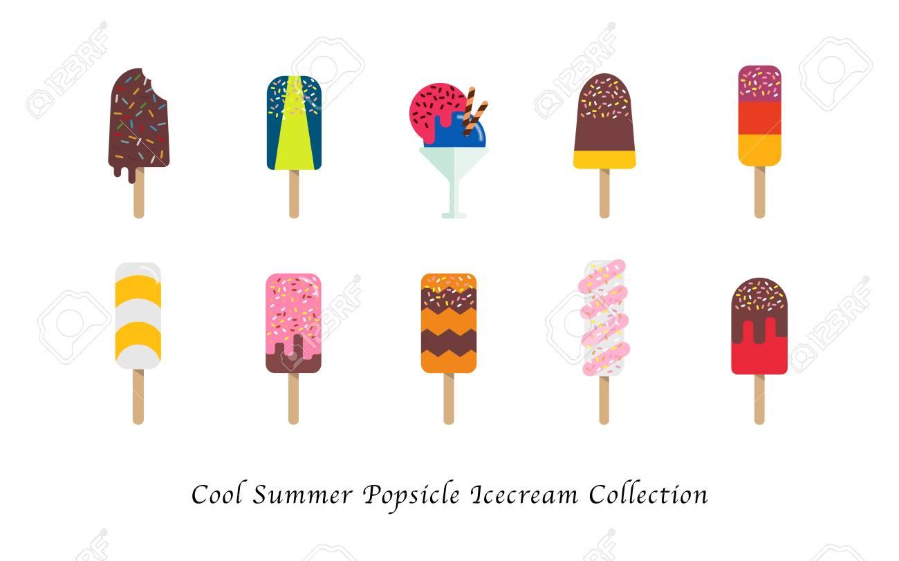 涼しい夏ポップシクル アイスクリーム甘いカラフルなデザート ...