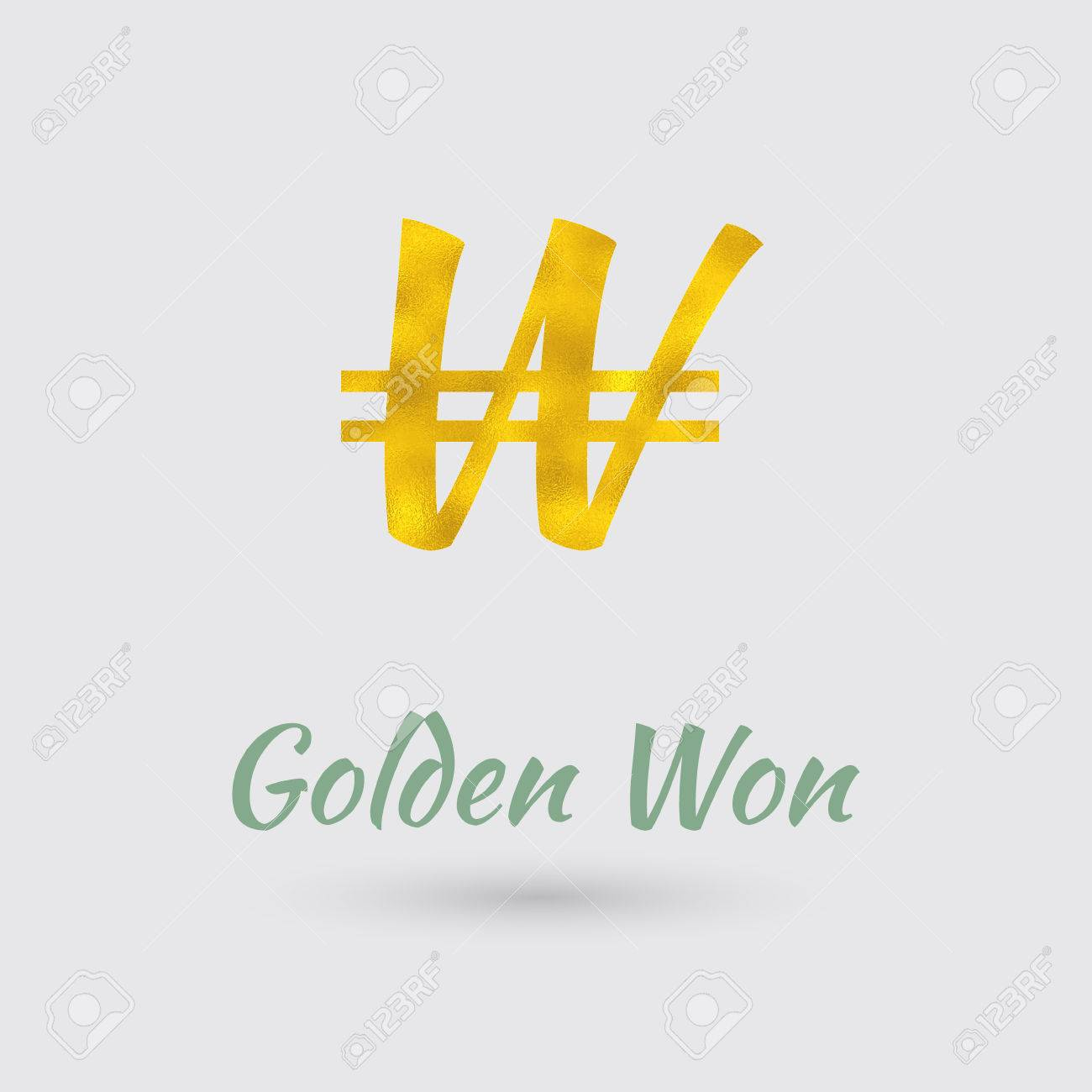 Symbol of the south korean won currency with golden texture symbol of the south korean won currency with golden texture text with the south korea buycottarizona